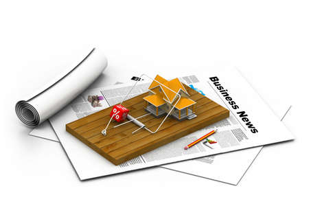 mantrap: House sitting on a mousetrap   suggesting risk in real estate