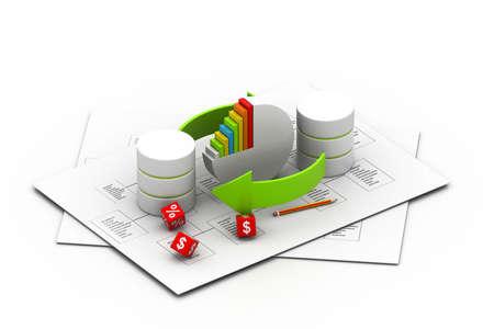 dispensation: Databases concept  business concept   Stock Photo