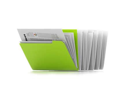 documentation: Row of folders Stock Photo
