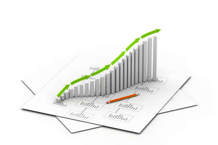 Business graph Stock Photo - 17033864