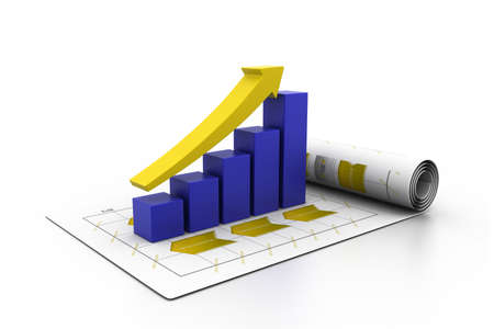 Business graph in chart Stock Photo - 17033785