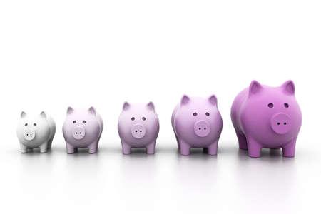 Piggy bank in a row photo