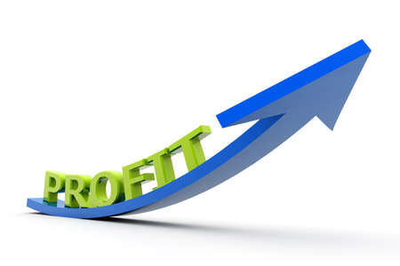 Growing profit graph Stock Photo - 17033671