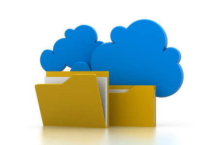 cloud system file sharing Stock Photo - 17033693
