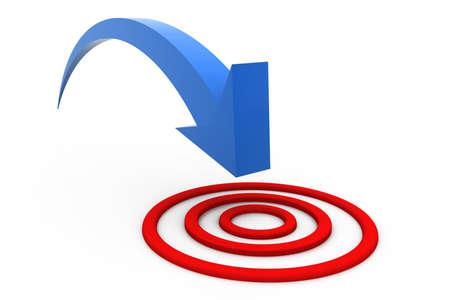 achieved: Target arrow
