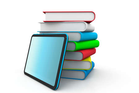 e book: Books and tablet pc