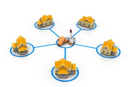 single dwellings: symbolic settlement network