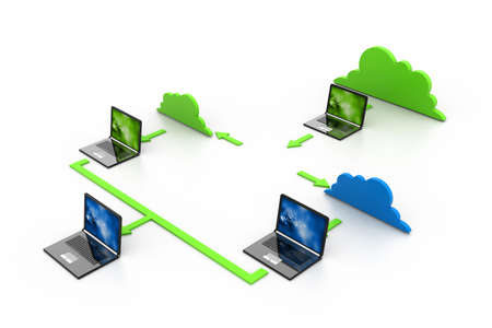 Cloud computing devices Stock Photo - 17033840