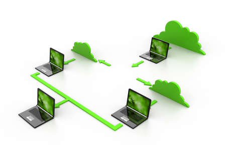 Cloud computing devices Stock Photo - 17033886
