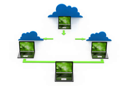 Cloud computing devices Stock Photo - 17033845