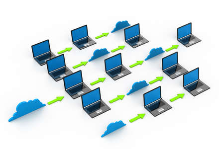 Cloud computing devices Stock Photo - 17033922