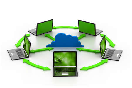 Cloud computing devices Stock Photo - 17033934