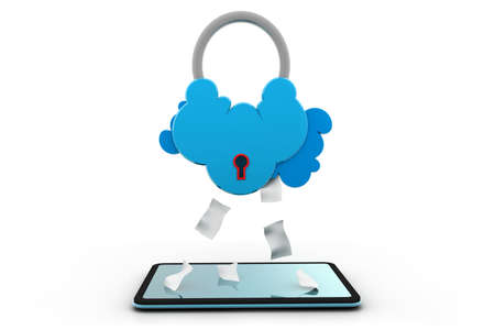secure cloud computing Stock Photo - 17033667