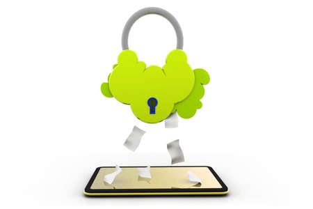 secure cloud computing Stock Photo - 17033675