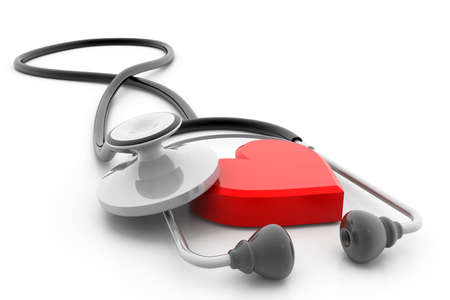 cardiologist: heart and stethoscope