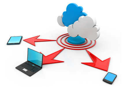 Cloud computing devices Stock Photo - 17033795