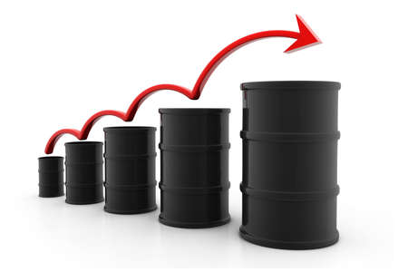 Increasing price of oil Stock Photo - 17033710