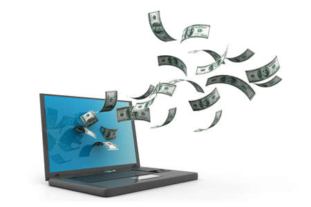 e auction: Online Banking Stock Photo