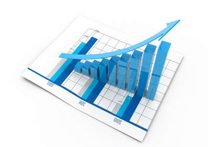 Business graph and chart Stock Photo - 17033823