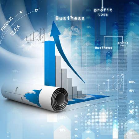 verhogen: Bedrijfs grafiek