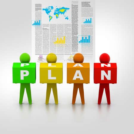 pertinente: Plan de negocios Foto de archivo