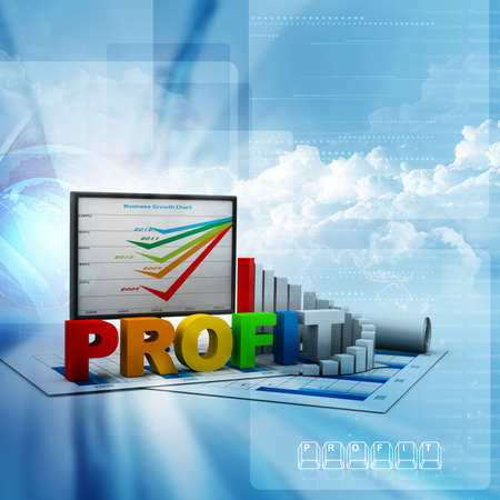 Business graph and chart Stock Photo - 17037748