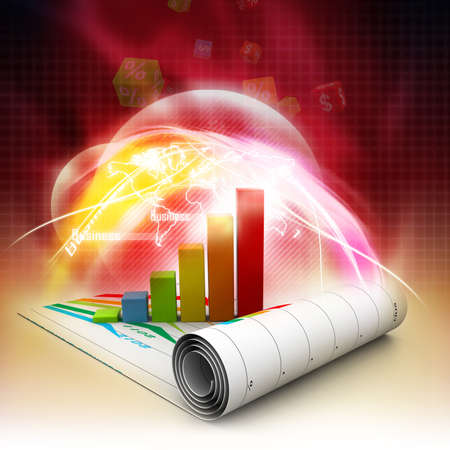 financial reports: Business graph Stock Photo