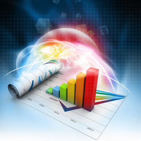 increment: Business graph Stock Photo