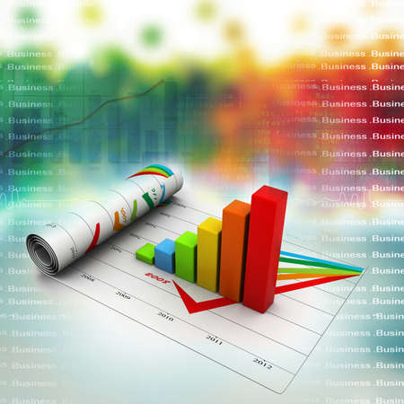 sales chart: Business graph Stock Photo