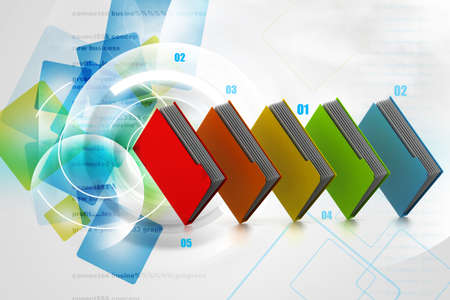 dossier: Colorfull folders in abstract background