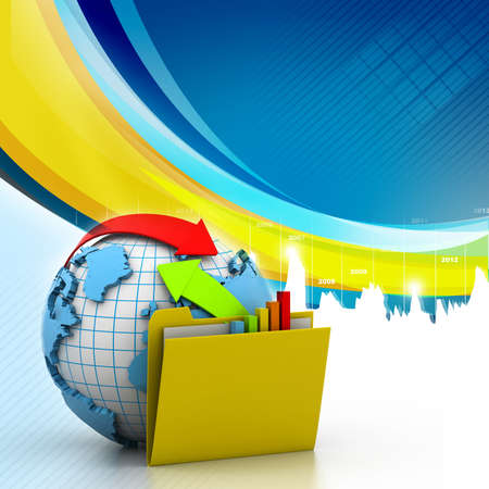 two way: Online exchange in abstract design Stock Photo