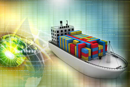 maritime: Container ship Stock Photo