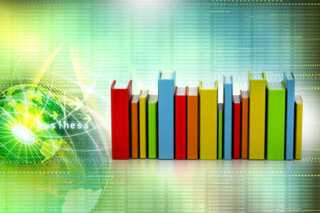 Colorful books photo