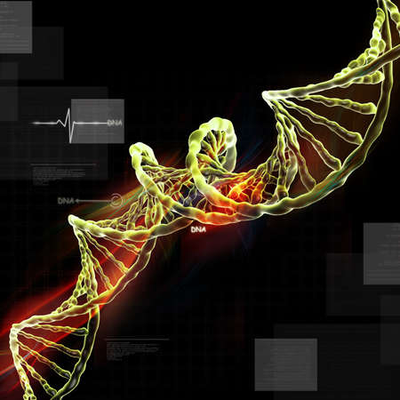 raytrace: DNA in abstract design