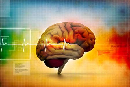 El cerebro humano en el fondo médico abstracto