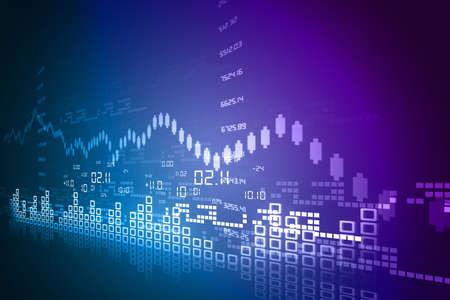 Stock Market Chart Stok Fotoğraf - 18416156
