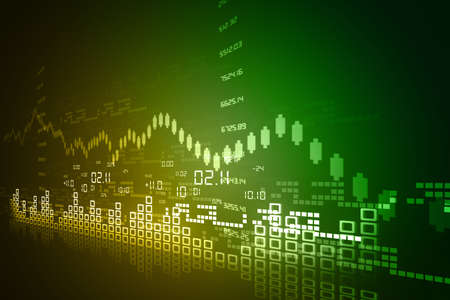 Stock Market Chart Stock Photo - 18416153