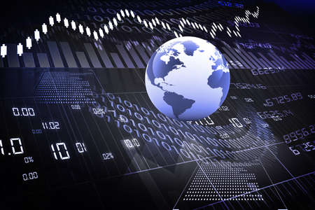 stock illustration: global stock market