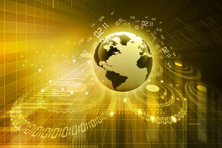 world with technology background Stock Photo - 18416136