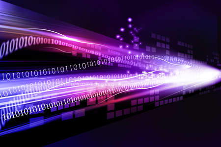 computer language: abstract technology background with binary code   Stock Photo