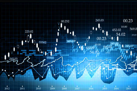 Stock Market Chart Stok Fotoğraf - 18416134