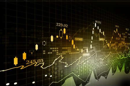 economie: Stock Market Grafiek