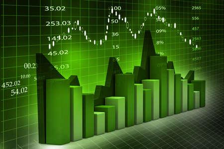 Stock Market Chart  Stock Photo - 18958039