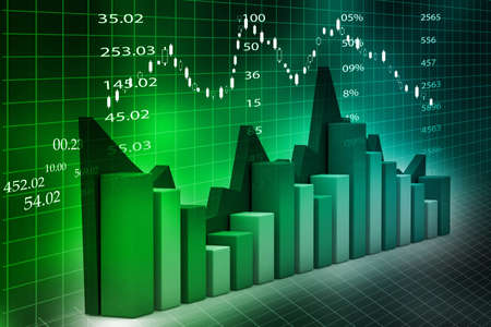 Stock Market Chart  Stock Photo - 18958040