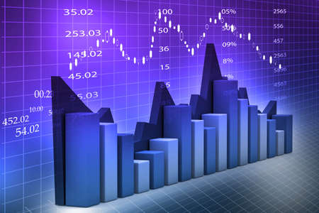 Stock Market Chart  Stock Photo - 18958038