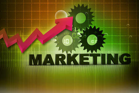 3d marketing text on abstract background Stock Photo - 18958096