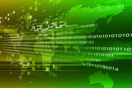 byte: Binary code on world map