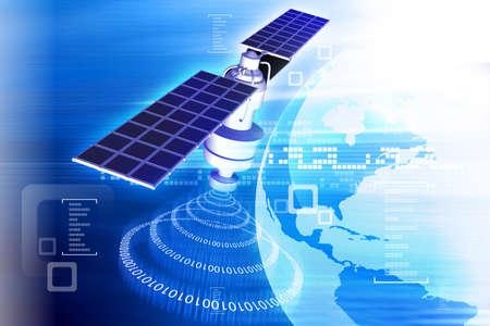 gps navigation: sat�lite en la �rbita de la Tierra