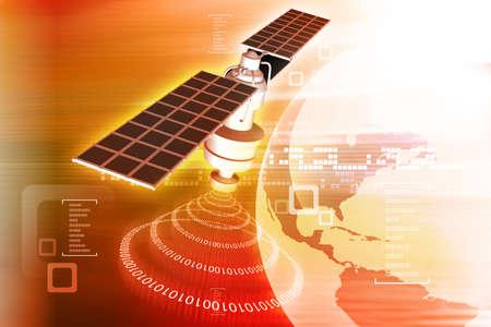 satellite  at the Earth orbit  photo
