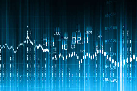 global market: Stock Market Graph and Bar Chart  Stock Photo